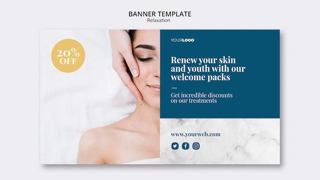 Tratamiento de spa de plantilla de banner