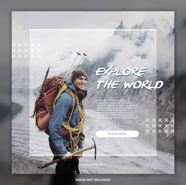 Travel adventure social media banner instagram templates