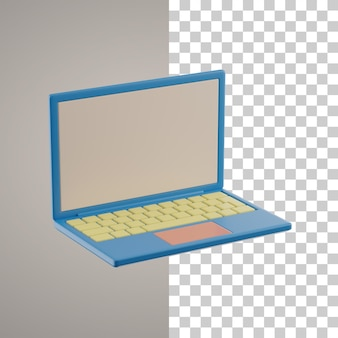 Trazado de recorte de portátil 3d
