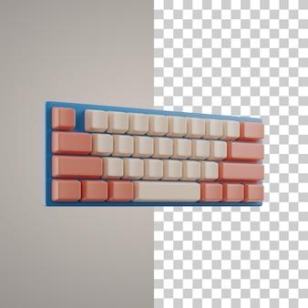 Trazado de recorte de teclado 3d