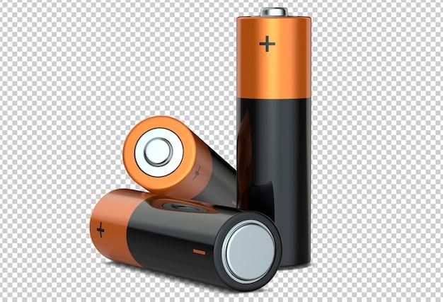 Tre batterie alcaline aa