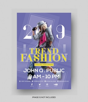 Trend fashion flyer