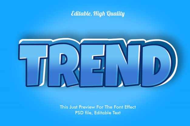 Trend lettertype effect mockup