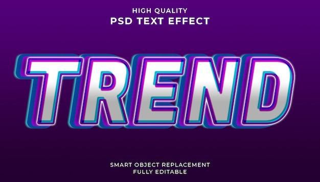 Trend teksteffect.