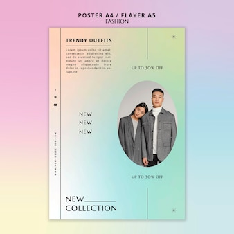 Trendy outfits flyer-sjabloon