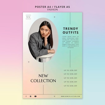 Trendy outfits poster sjabloon