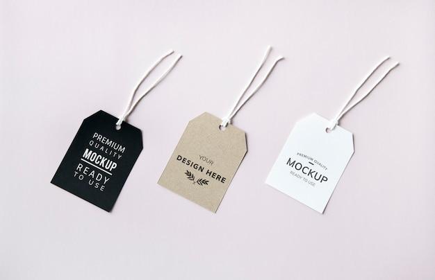 Tres maquetas de etiqueta de etiqueta de moda