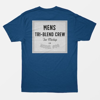 Tri-blend heren tee-mockup