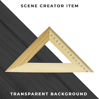 Triángulo objeto transparente psd