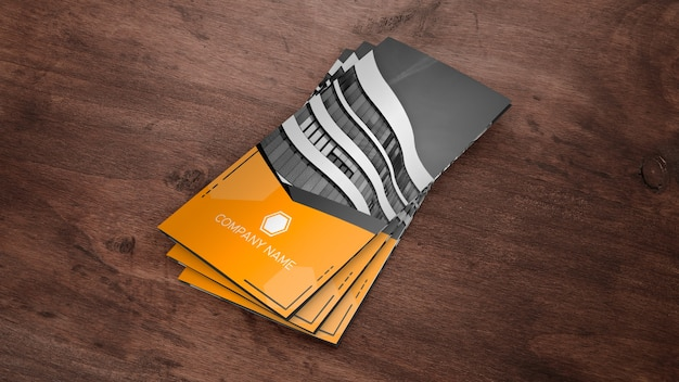 Trifold-brochure mockup als stapel