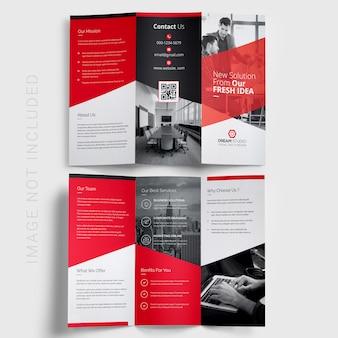 Trifold zakelijke brochure