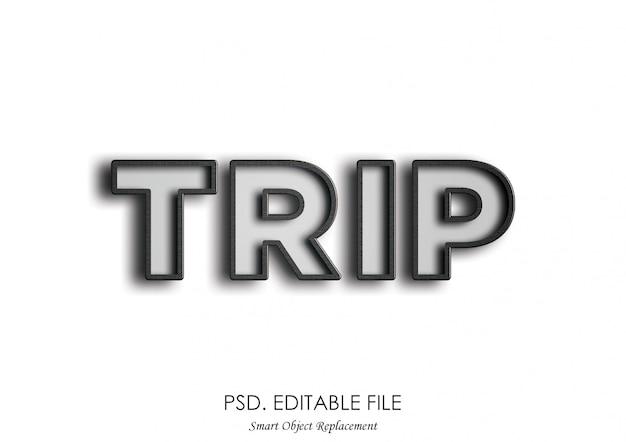 Trip 3d teksteffect mockup