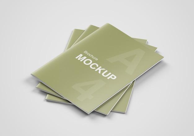 Triple cover brochure of tijdschrift mockup