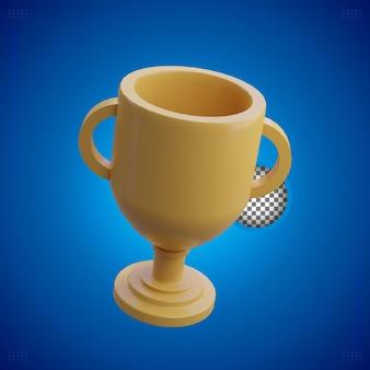 Trofeo de oro simple de renderizado 3d