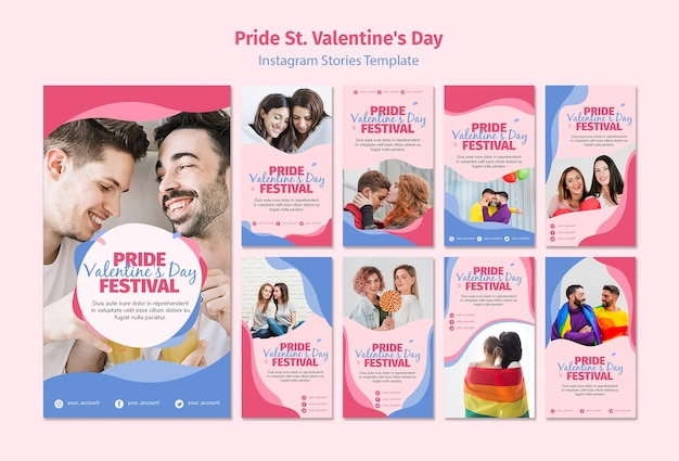 Trots st. valentijnsdag festival instagram-verhalen