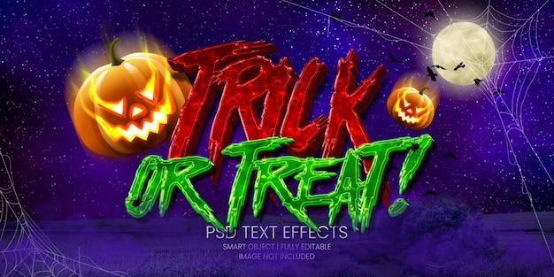 ¡truco o trato! efecto texto