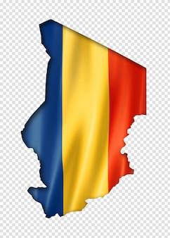 Tsjaad vlag kaart