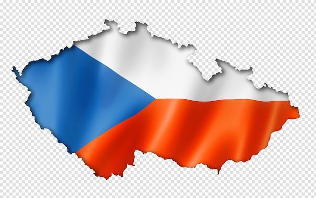Tsjechische vlag kaart