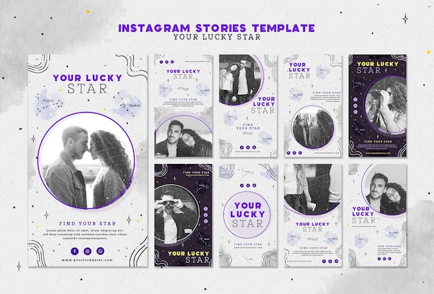 Tu plantilla de historias de instagram de lucky star