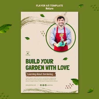 Tuin met liefde folder sjabloon