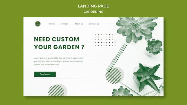 Tuinieren bestemmingspagina webtemplate