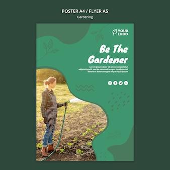 Tuinieren concept flyer sjabloon