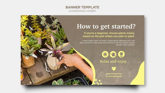 Tuinieren hobby banner ontwerp