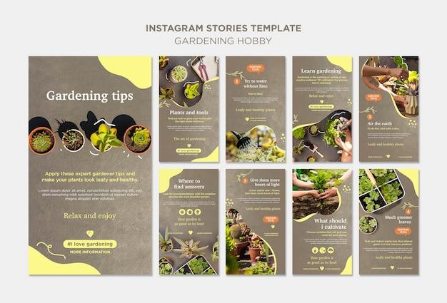 Tuinieren hobby instagramverhalen Gratis Psd