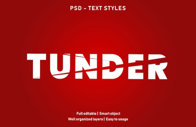 Tunder teksteffectstijl