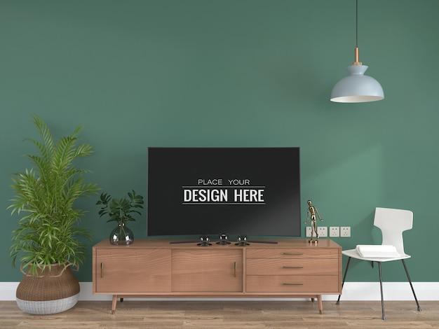 Tv in woonkamer mock-up