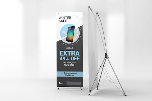 Twee advertentieblokken met x-banners