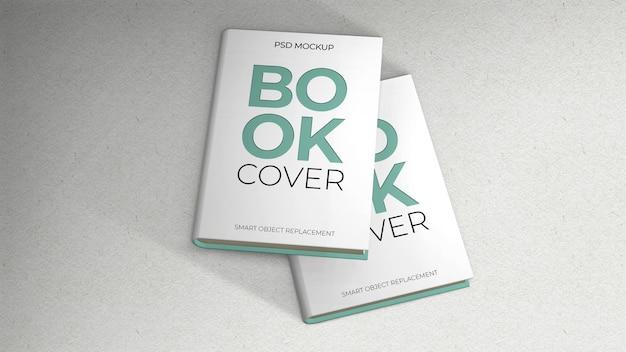 Twee boeken omslagmodel