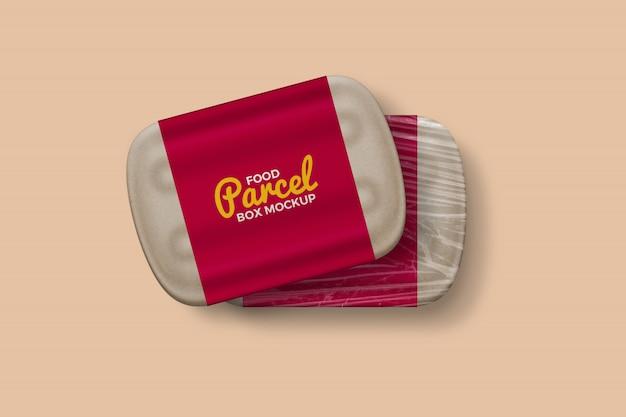 Twee kraft paper food parcel box mockup