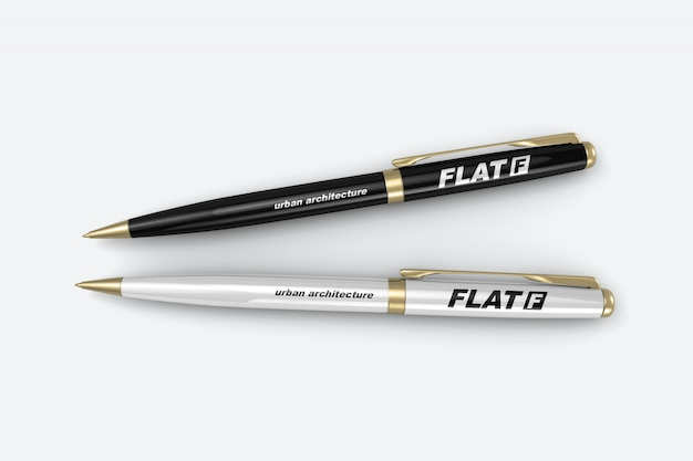Twee luxe pennen mockup