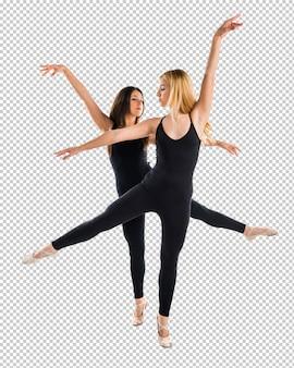 Twee meisjes dansend ballet