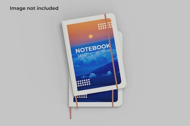 Twee notebook mockup bovenaanzicht Premium Psd