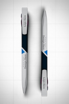 Twee pennen mockup