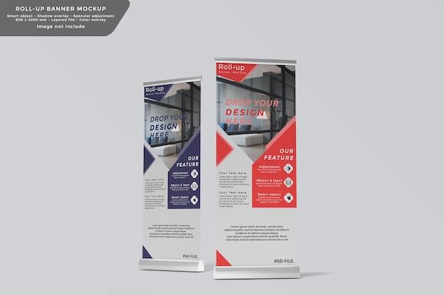 Twee roll-up banner mockup-ontwerp