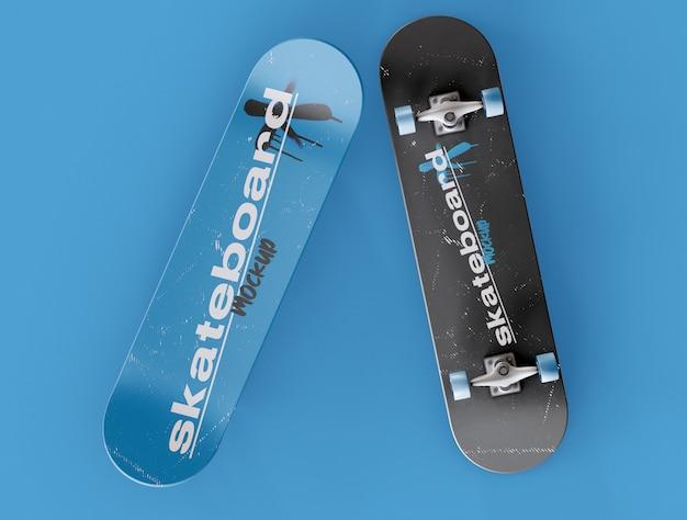 Twee skateboard mockup