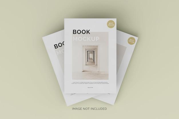 Twee softcover boek mockup vooraanzicht