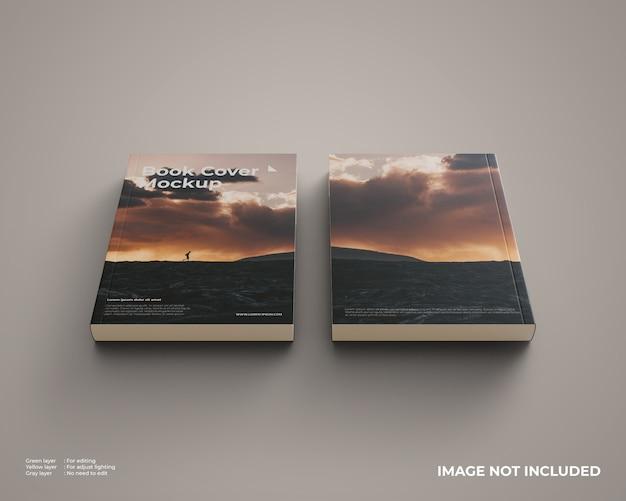 Twee softcover boeken mockup