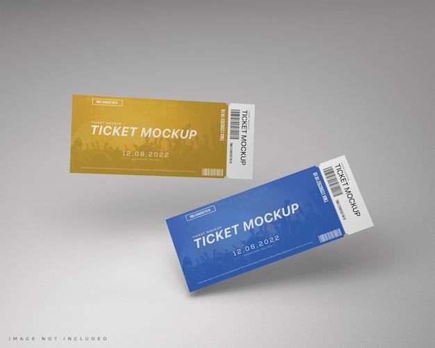 Twee tickets voucher mockup