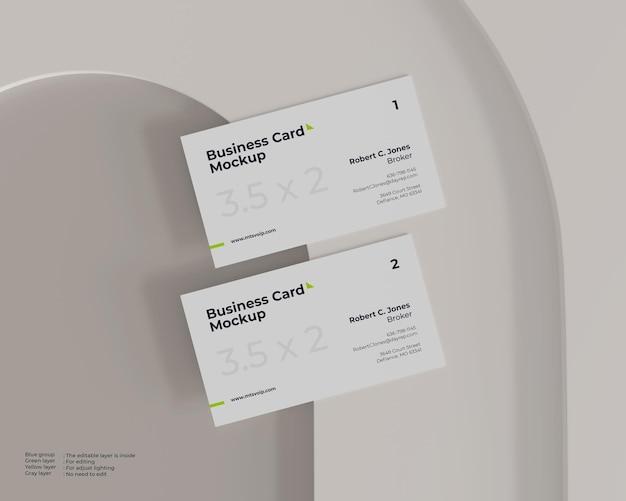 Twee visitekaartjes mockup
