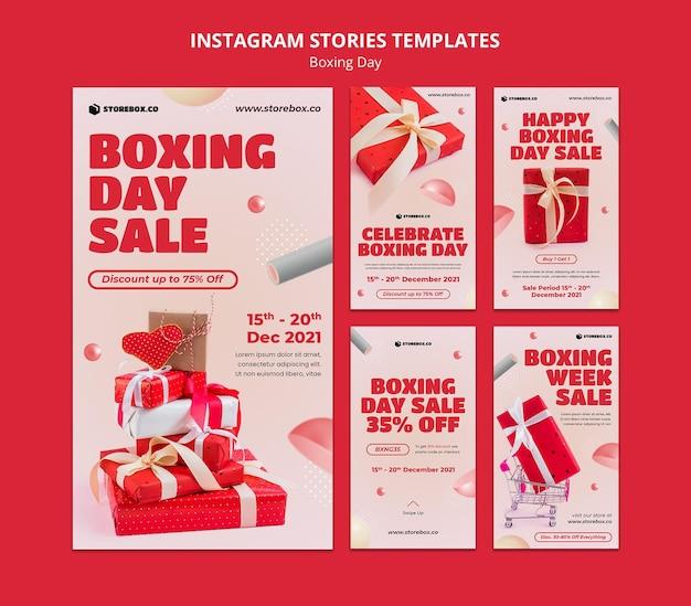 Tweede kerstdag instagram verhalen set