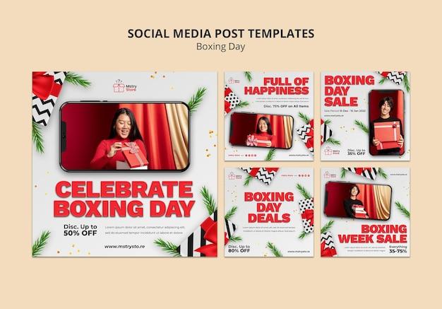 Tweede kerstdag verkoop instagram posts set