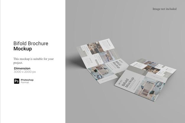Tweevoudig brochure mockup design
