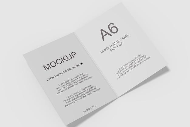 Tweevoudig brochure mockup-ontwerp in 3d-rendering