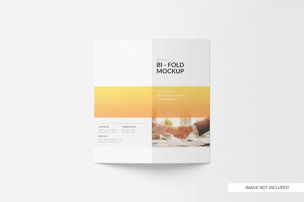Tweevoudig brochure-model