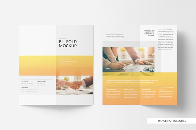 Tweevoudig brochure-model