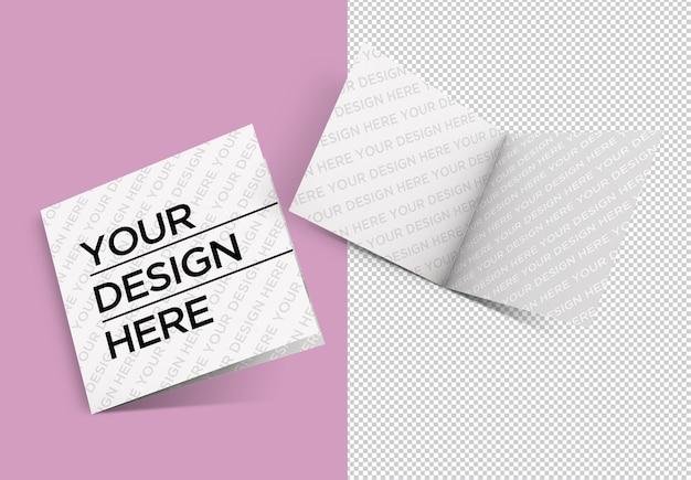 Tweevoudige brochure geïsoleerde mockup